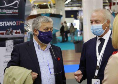 Da sx: Gennaro Amato (pres. Snidi); Gianpiero Calzolari (pres. BolognaFiere);